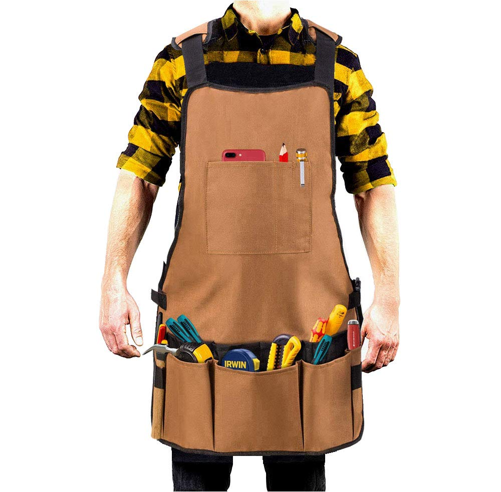 Tool Aprons With Pockets for Men And Women, Oxford Waterproof for Carpentry, Gardening and Lawn Care, Handicrafts, Cleaning HMMS HMMS-gjwq