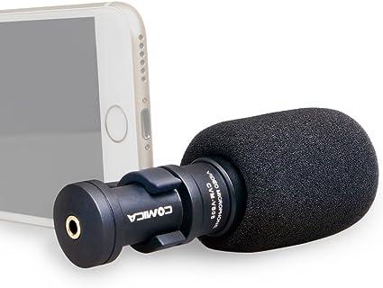micrófono para iPhone Smartphone, ulanzi comica cvm-vs08 ...