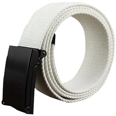 Gespout Ceinture Homme Femme Tissu Blanc Casual Sans métal 110cm Pour  Sports Voyages Shoppings Jeans 2a89c658cb2