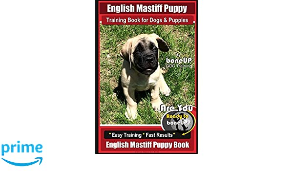 English Mastiff Puppy Training Book For Dogs And Puppies By Bone Up