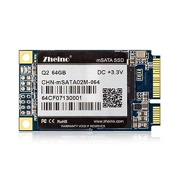 Zheino Q2 mSATA SSD 64 GB con 128M Caché (30 * 50 mm) 2D MLC (Not