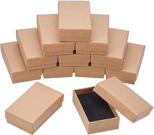 NBEADS Caja, 18 Unidades de 5 X 8 cm Rectangular de Cartón de Madera de Borrego con Caja de Regalo para Joyas, Pulseras, Collares, Manualidades, Cumpleaños, Navidad, Festival, Almacenamiento: Amazon.es: Hogar