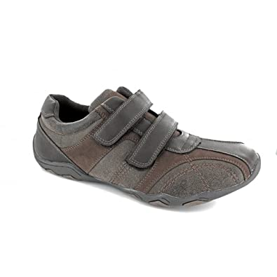 Mens Brown Touch Fastening Leisure Shoe - Brown - size UK Mens Size 6
