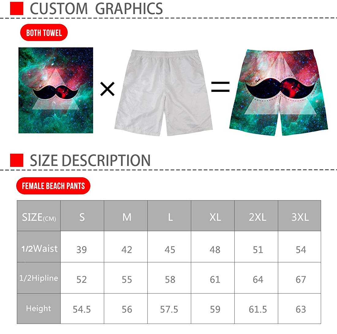 HMML Mens Colorful Dogs Beach Board Shorts Elastic Waist Swim Trunks with Pockets