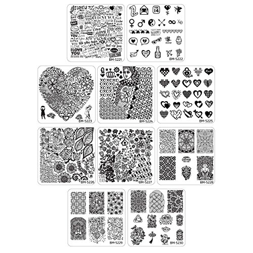 Maniology (formerly bundle monster) 10pc Occasions Nail Art Stamping Plates: Chinese New Years - Valentine's Day - Spring from Bundle Monster