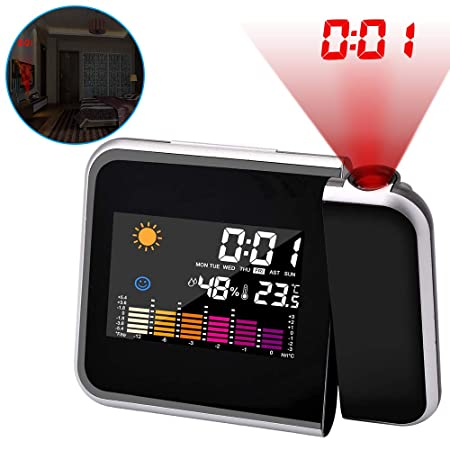 ASANMU Despertador Digital Proyector, Reloj Despertadores ...