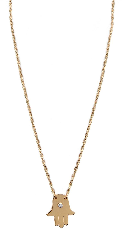 3ab54af9049b1 Amazon.com: Jennifer Zeuner Jewelry Mini Hamsa Diamond Necklace: Jewelry