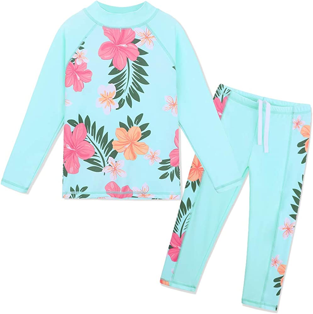TFJH E Girls Swimsuit Two Piece Swimwear 3-12 Years UPF 50+ UV