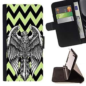 King Case - FOR Samsung Galaxy Note 3 III - A good beginning - Prima caja de la PU billetera de cuero con ranuras para tarjetas, efectivo Compartimiento desmontable y correa para la mu?eca