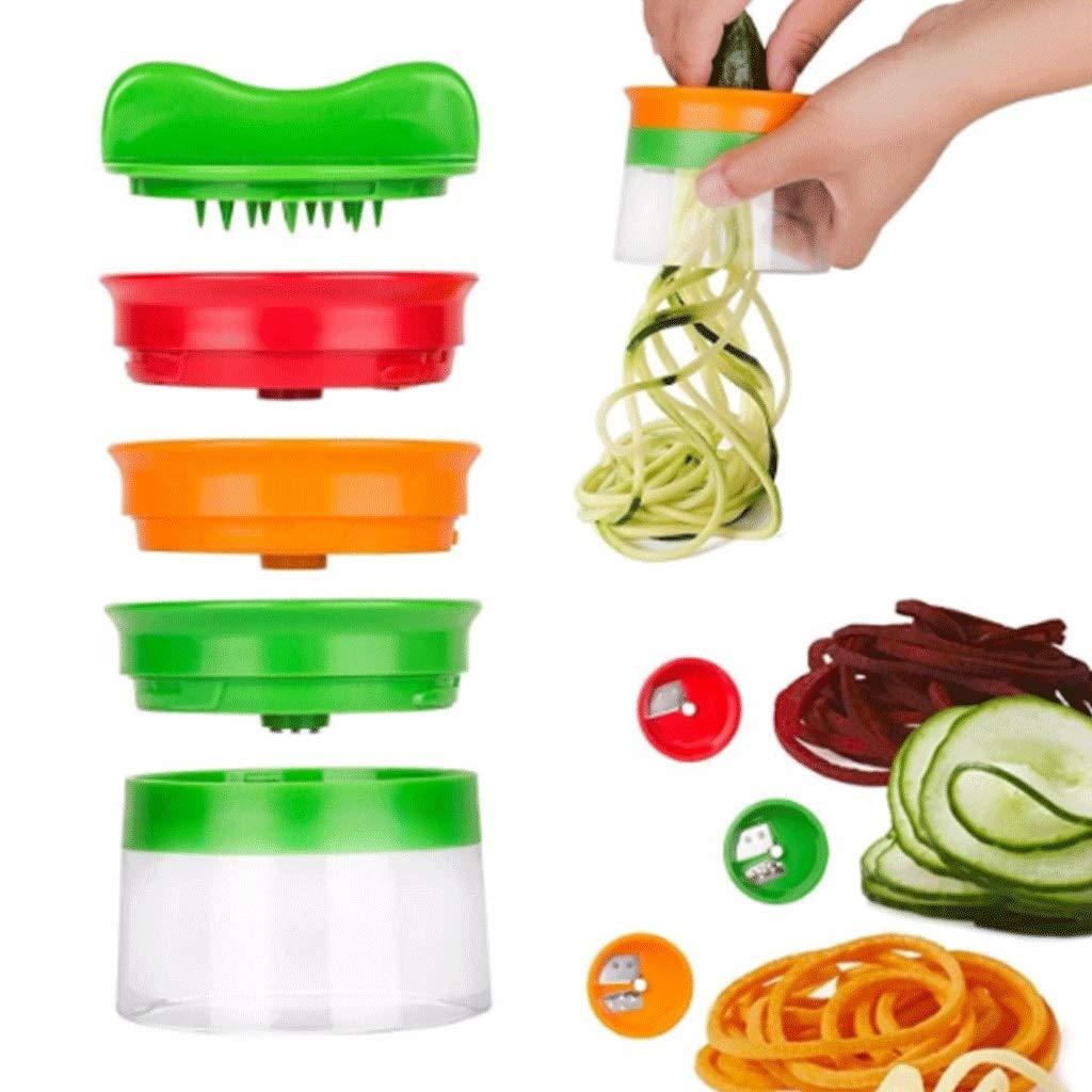 BingWS Graters Spiralizer - Hand Held Vegetable Fruit Spiral Slicer Cutter, Spiral Slicer Creates Spaghetti Noodles, Vegetable Spiralizer and Cutter, Spiralizer Grater Vegetable Slicer Food Processor by BingWS
