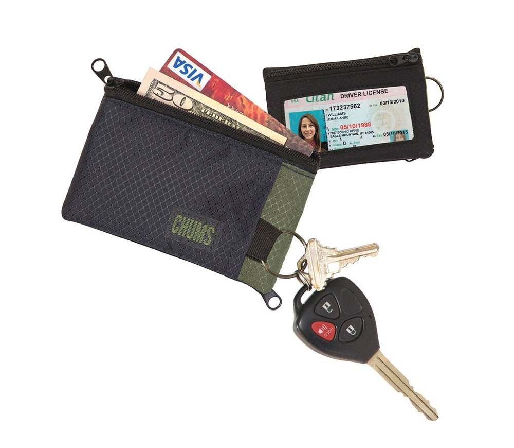 Chums Surfshort Wallet Charcoal/Neon Green 18401169