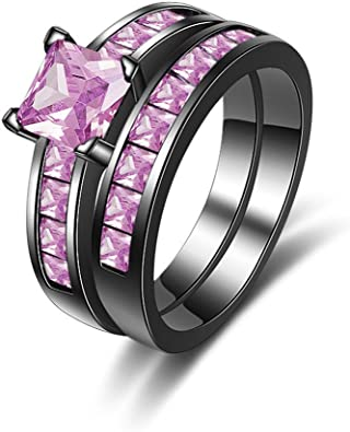 FT-Ring Luxury Purple Amethyst Jewelry Engagement Rings For Women Wedding Bridal rings