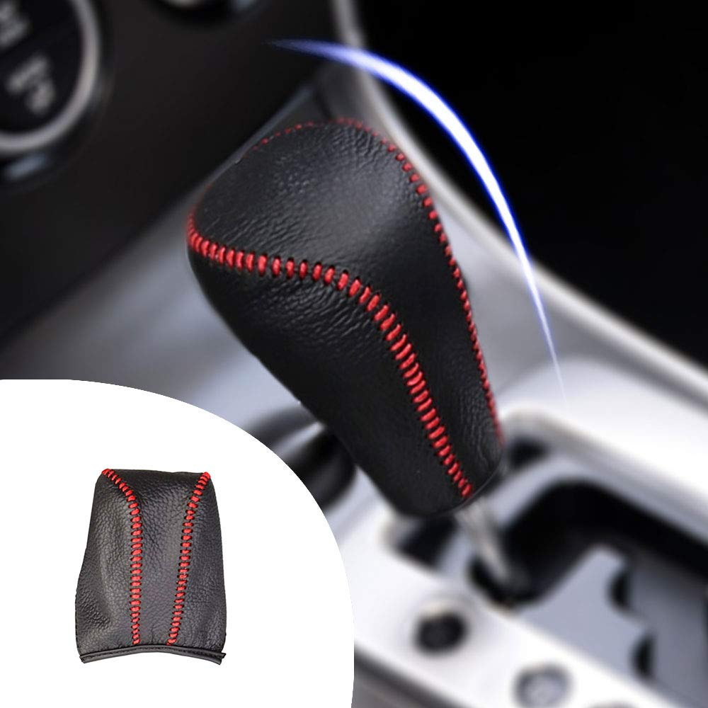 for Auto at Axela 09-12 Mazda 8 Mazda 3 09-16 Mazda6 03-11 Gear Shift Knob Shifter Lever Leather Cap Knob Protect Cover Insert Replacement Black Type A