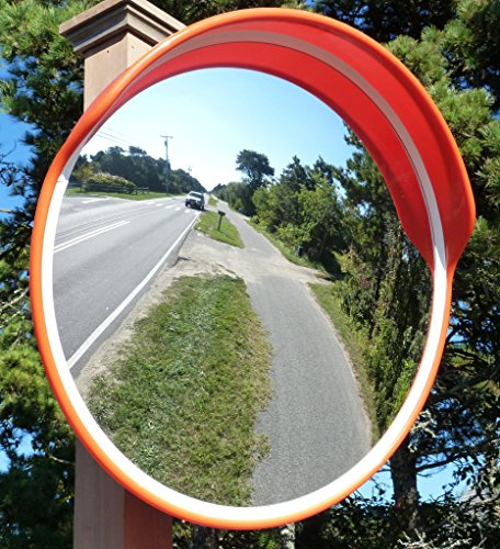 Safety Traffic Mirror,Outdoor Universal With Cap Convex Security Mirror 38