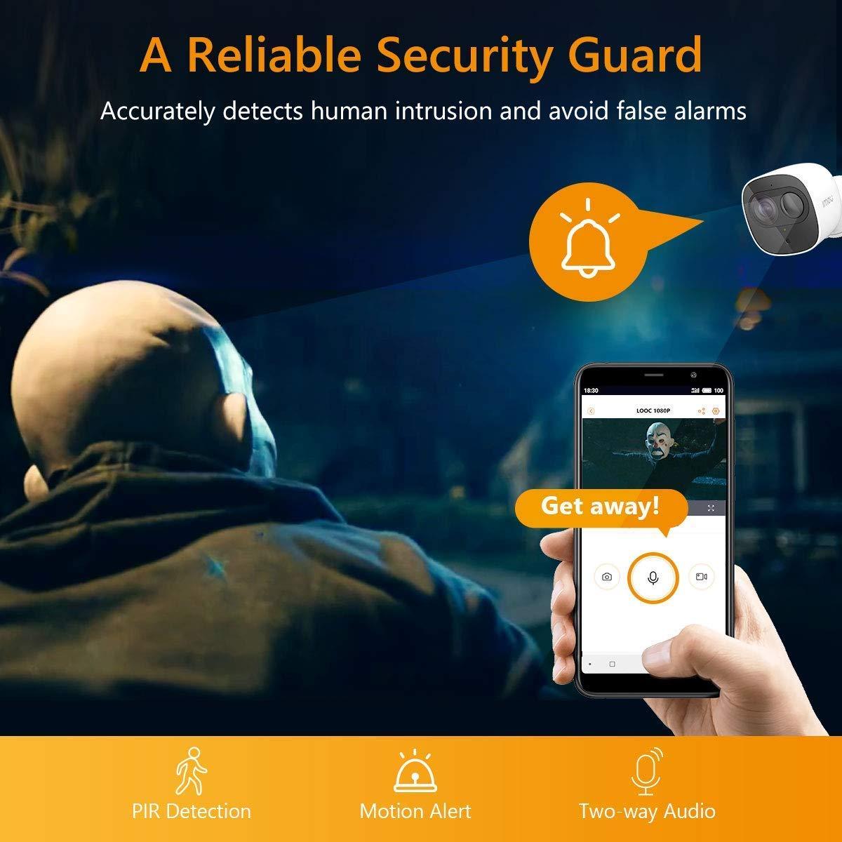 Kit de 2 C/ámaras C/ámaras ip WiFi Exterior//Interior con Detecci/ón de Movimiento PIR Visi/ón Nocturna y Audio Bidireccional C/ámara de Vigilancia WiFi sin Cable con Bater/ía Recargable Cell Pro 1+2
