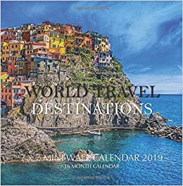 b7d390d409f36 World Travel Destinations 7 x 7 Mini Wall Calendar 2019  16 Month Calendar   Mason Landon  9781727614619  Amazon.com  Books