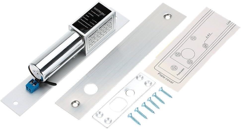 KKmoon - Cerradura magnética eléctrica con fuerza de retención para el sistema de control de acceso de puerta NC 60 kg forma 3
