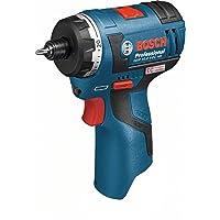 Bosch Professional GSR 12V-20 HX Akku-Schrauber (mit 1/4 zoll -Innensechskant Aufnahme, click&go, ohne Akku, ohne Ladegerät in L-BOXX) 06019D4103