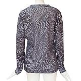 TWGONE Mock Turtleneck Women Long Sleeve Printed