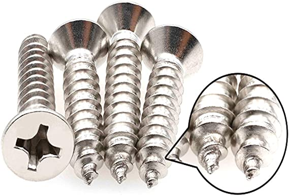 Qrity M4 Tornillos autorroscantes Phillips de acero inoxidable para bricolaje