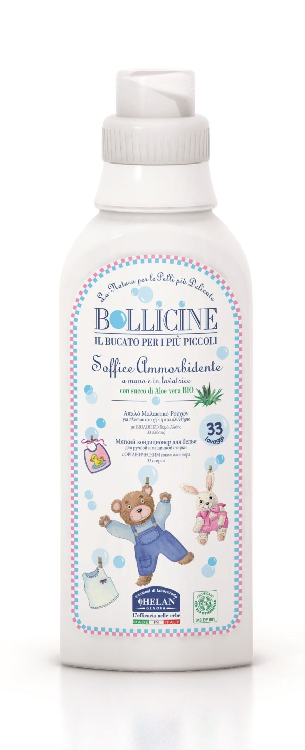 Bollicine Baby Fabric Softener Eco Organic Vegan Dermatology Tested 500ml Helan 5060425240349