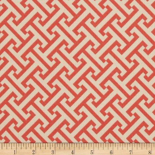 WAVERLY Indoor/Outdoor Cross Section Fabric, Peachtini