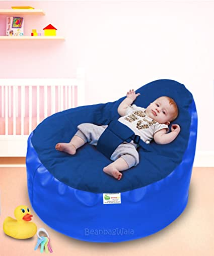 Remarkable Beanbagwala Baby Holder Bean Bag R Blue N Blue Filled With Beans Caraccident5 Cool Chair Designs And Ideas Caraccident5Info