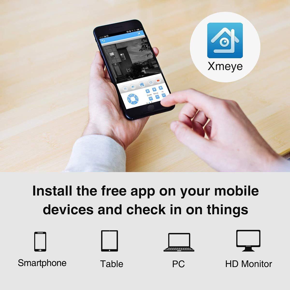 Kit inal/ámbrico de Video vigilancia 4pcs Bala HD IP Dentro y Fuera,se adaptan a Cualquier Ambiente Disco Duro Interno no Incluido EMAX 720P NVR Wi-Fi y de c/ámara inal/ámbrica 720P