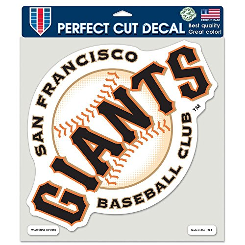 WinCraft MLB San Francisco Giants 16747013 Perfect Cut Color Decal, 8