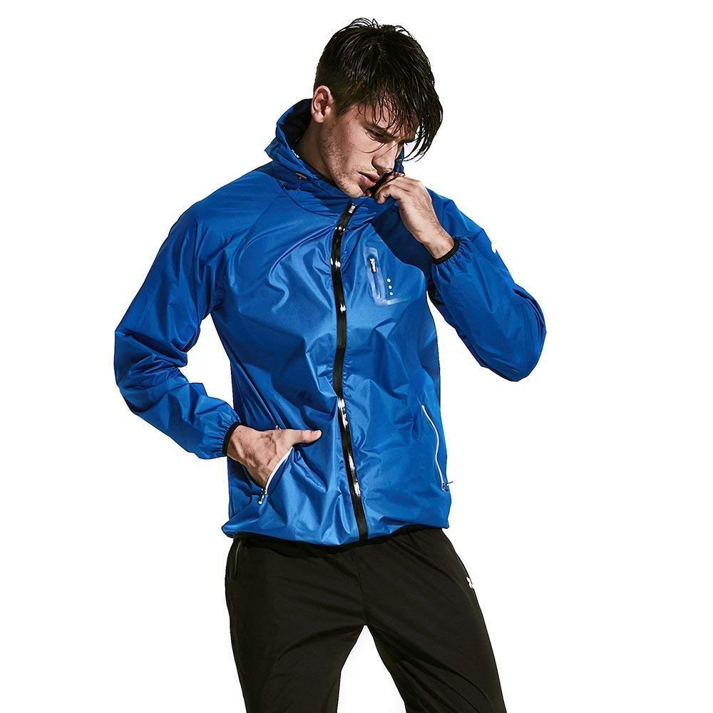 HOTSUIT Sauna Suit Weight Loss Slimming Fitness Gym Exercise Training (Blue, Medium)