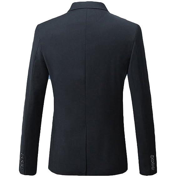 Amazon.com: Yffushi Blazer para hombre, saco elegante para ...