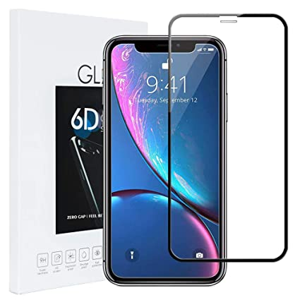 b202b9d328952a iPhone Xs Max Tempered Glass Screen Protector -6D Full Cover 9H Hardness  Tempered Glass Screen