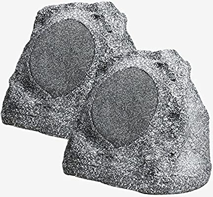 RS670 6.5-Inch 150W 2-Way High Power Outdoor Weather-Resistant Rock Speaker - OSD Audio - (Pair, Grey)