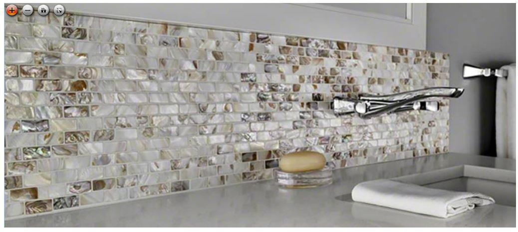 Santorini 12 in. x 12 in. x 3 mm Glass Mesh-Mounted Mosaic Wall Tile