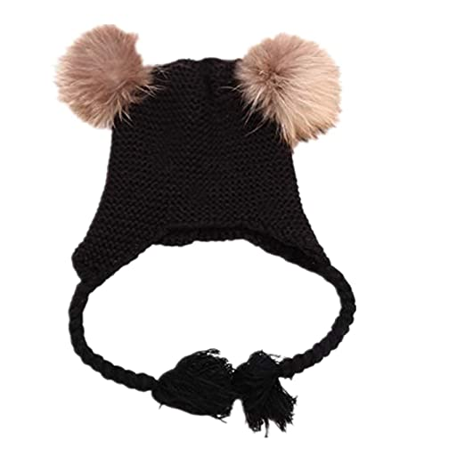 ZTY66 Toddler Baby Winter Warm Earflap Beanie Hat Kid Knit Hat for 1 to 5  Years 593443ac35a