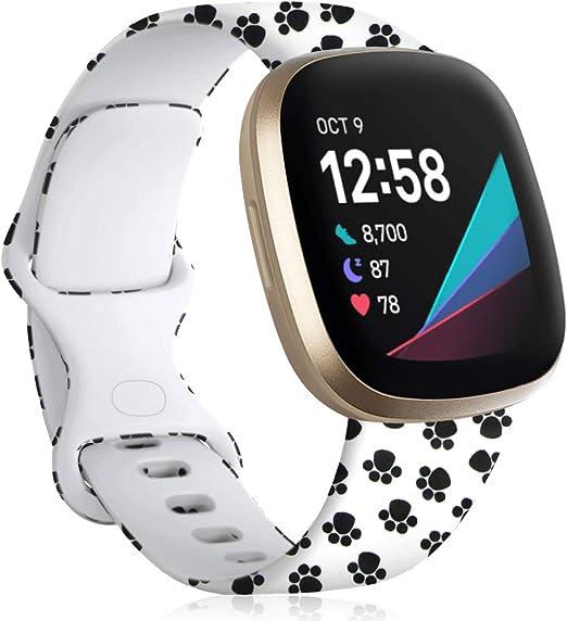 Colorful Jellyfish Maledan Bands Compatible with Fitbit Versa 2//Versa//Versa Lite SE Smartwatch for Women Men Small