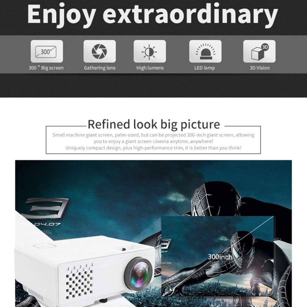 DJG RD-810 800 * 768 1200 Home Theater lúmenes Mini proyector LED ...