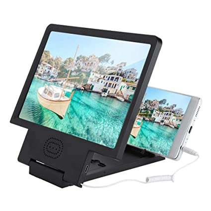 quality design 01eff 36a8b Asixx 12 inches Screen Magnifier, 3D HD Smart Mobile Phone Movies Amplifier  with Foldable Holder Stand,with Speaker for iPhone X / 8/8 Plus / 7/7Plus,  ...
