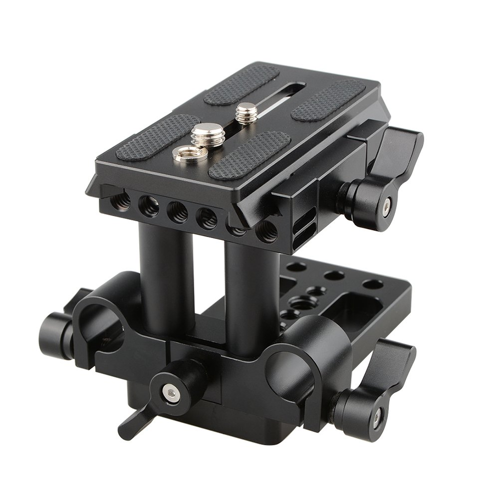CAMVATE Quick Release Mount Base QR Plate for Manfrotto 501/504/ 577/701 Tripod Standard Accessory(Black) by CAMVATE