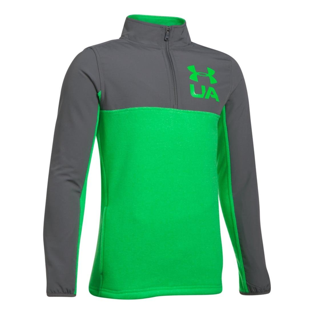 Under Armour ボーイズ Phenom 1/4ジップ。 B01MTXZT3W Large / 14-16 Big Kids|Lime Twist/ Graphite/ Lime Twist Lime Twist/ Graphite/ Lime Twist Large / 14-16 Big Kids