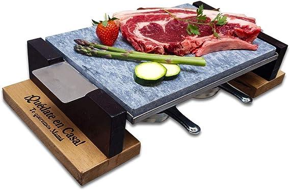 Piedra para Asar Carne a la Piedra Modelo Personalizado de 20x30 cm con Dos quemadores de Alcohol
