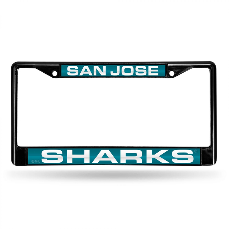 San Jose Sharks NHL Rico Industries  Die Cut Metallic Sticker