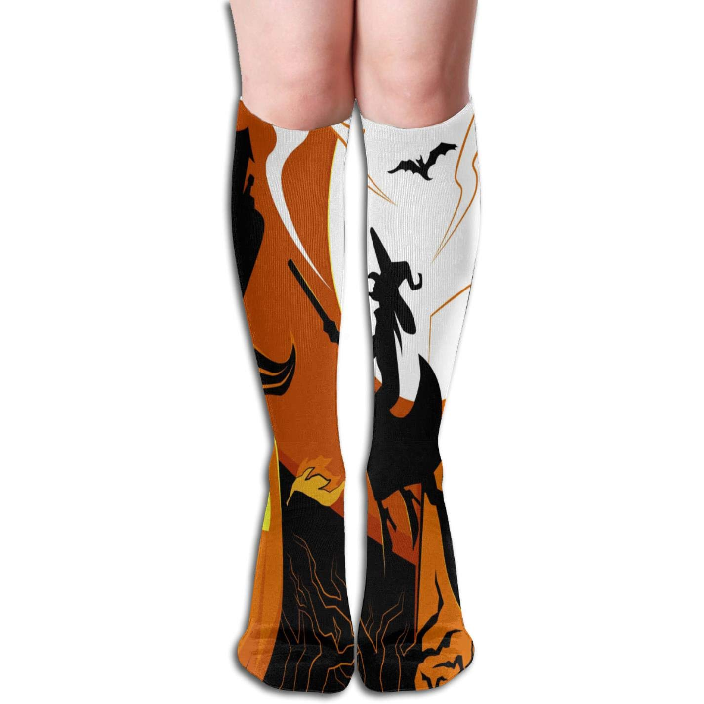 b3d3f6972 Amazon.com  Women s Halloween 3D Printing Kawaii Knee Socks Fashion Cute  Stockings  Clothing