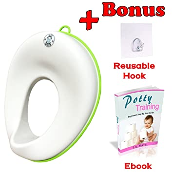 potty seat for elongated toilet. Potty Training Seat For Boys And Girls  Toddlers Toilet Trainer Ring For Oval Elongated Amazon Com