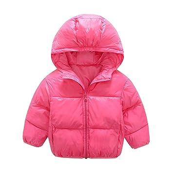 a9341bde9 Kids Girls Boys Parka Down Jacket Hooded Coat Autumn Winter Warm ...