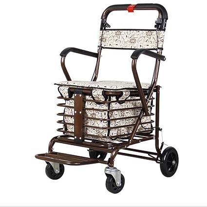 Carritos de la compra Walker rollator/Andador/Walker rollator para Mayores Compras/Carro