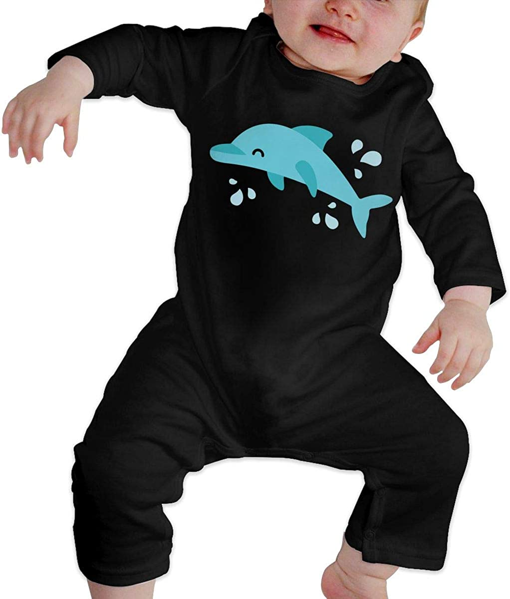 BKNGDG8Q Unisex Baby Romper Jumpsuit Porpoise Organic One-Piece Bodysuits Coverall Outfits