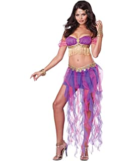 sexy belly dancer halloween costume for cute adult womens ladies