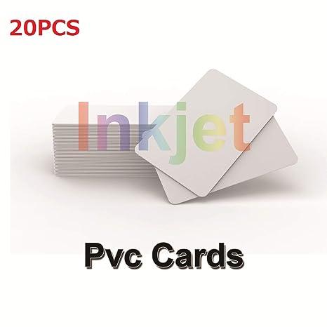 Amazon.com: Inyección de tinta imprimible PVC tarjetas de ...