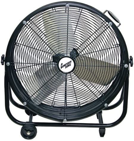 Comfort Zone CZMC24 HBCLCZMC24 Industrial Drum Fan, 24 Barrel-Direct Drive, Black